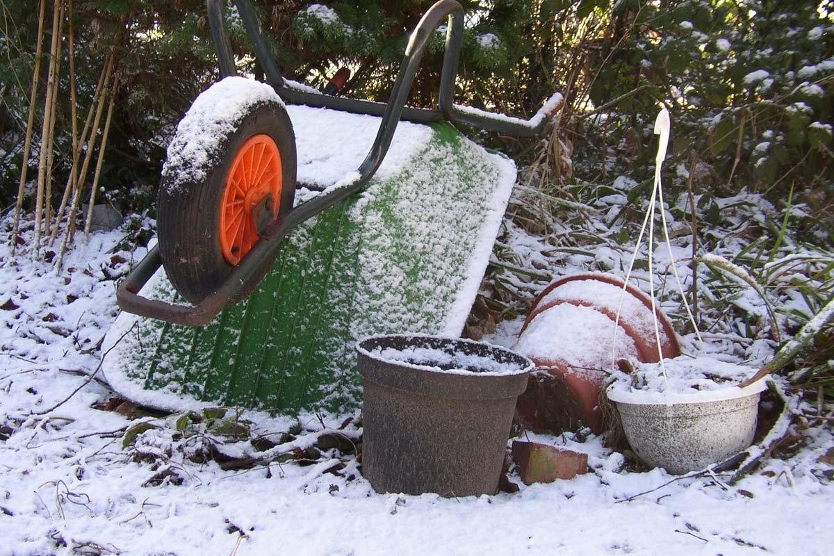 Prace porządkowe oraz pielęgnacyjne w ogrodzie przed zimą.